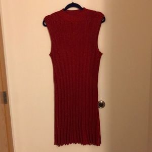 Candies Red Sparkly Sweater Dress
